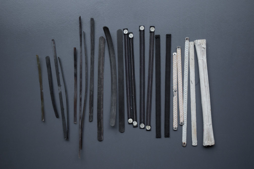 Assortment Of Corset Bones, Baleen & Steel, c. 19th century. The Underpinnings Museum. Photography by Tigz Rice.