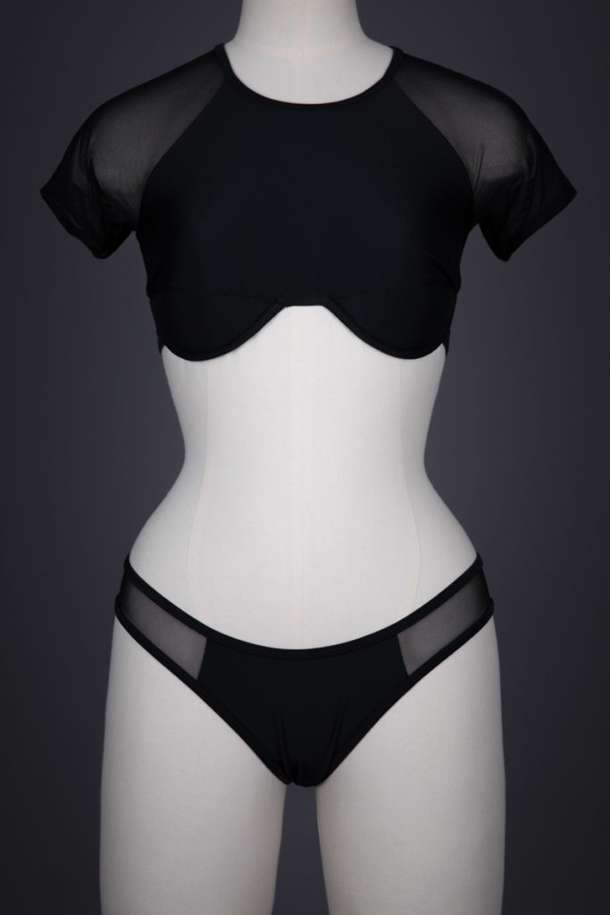 'Uniform' Underwire Bra Top & Briefs By Chromat, c. 2010s, USA. The Underpinnings Museum. Photography by Tigz Rice.