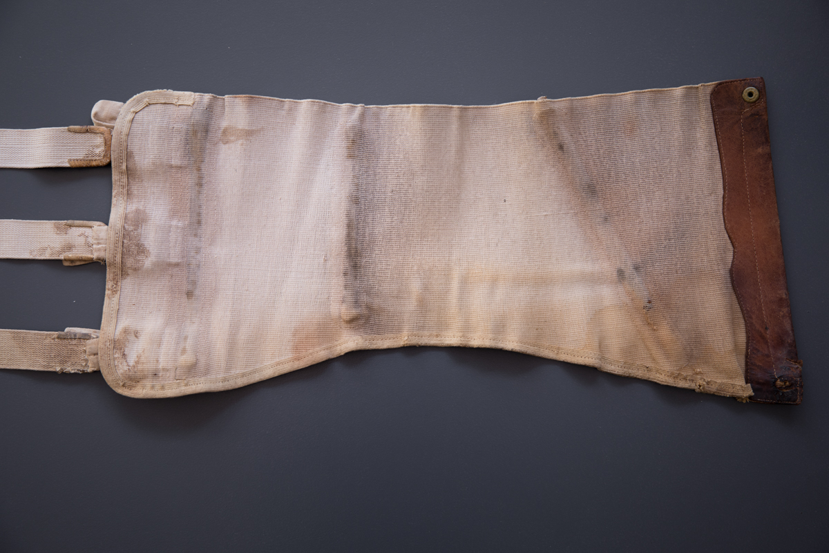 Elastic & Leather Sports Belt, c. 1930s, Spain. The Underpinnings Museum. Photography by Tigz Rice.