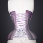 'Nebula' Painted Cotton Coutil Corset By Sparklewren, 2014, UK. The Underpinnings Museum. Photography by Tigz Rice.