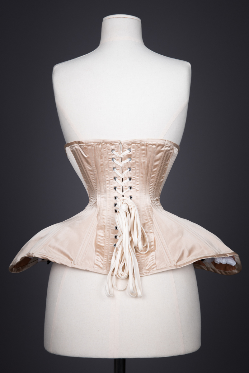 Silk Edwardian Style Corset By Sparklewren, c. 2015, UK. The Underpinnings Museum. Photography by Tigz Rice.