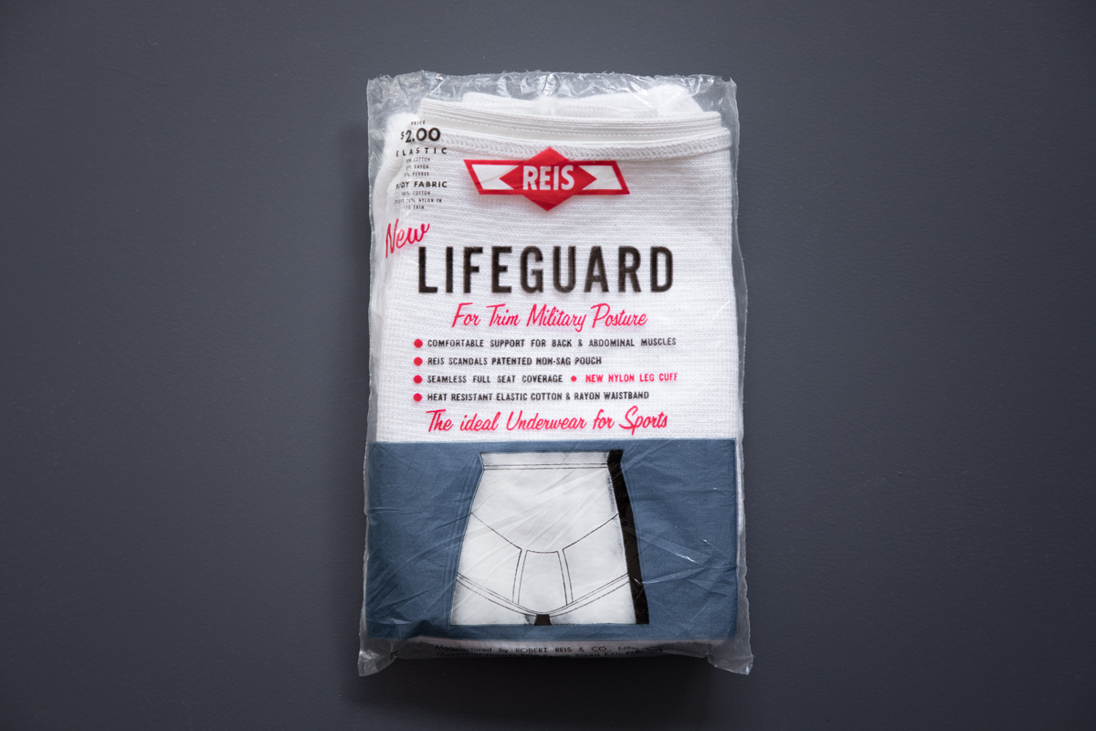 'Lifeguard' Full Support Briefs By Reis, c. 1950s, USA. Photography by Tigz Rice. The Underpinnings Museum.