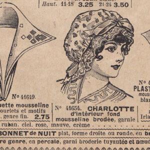 Excerpt from 'Au Bon Marché' 1917 department store catalogue.