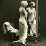 Early advertsing photograph of model wearing Spirella corset, c. 1914-1920, The Garden City Collection. FGCHM100.246.15a