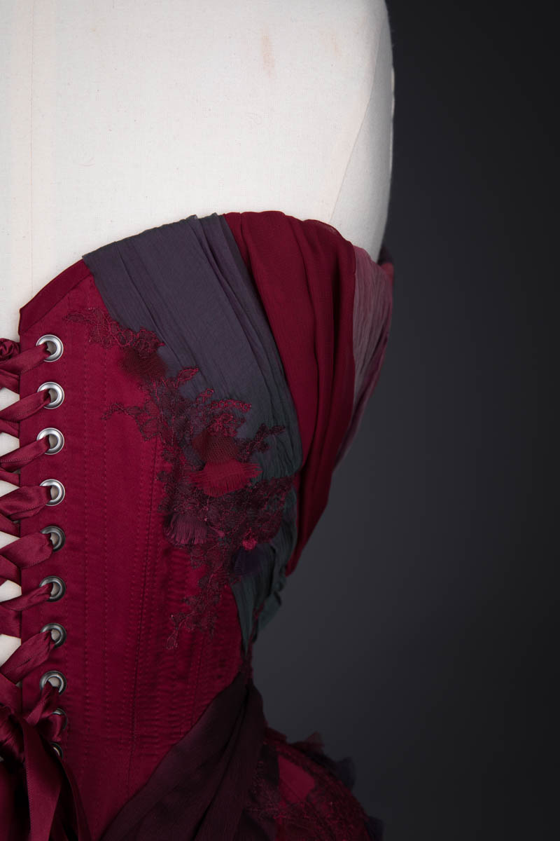 'Thea' Draped Silk Corset By Emiah, 2016, United Kingdom. The Underpinnings Museum. Photography by Tigz Rice