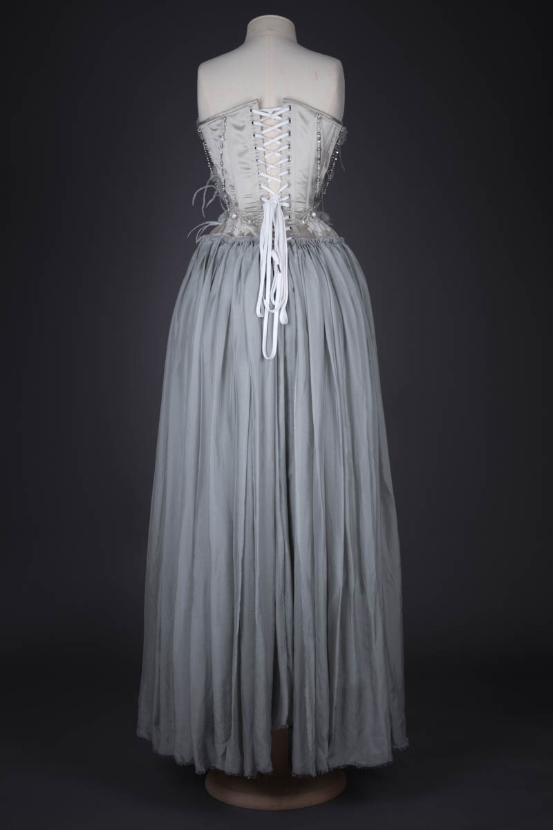 Silk Duchesse And Chiffon Corsetted Wedding Gown By Karolina Laskowska, 2018, Norway. The Underpinnings Museum. Photography by Tigz Rice.