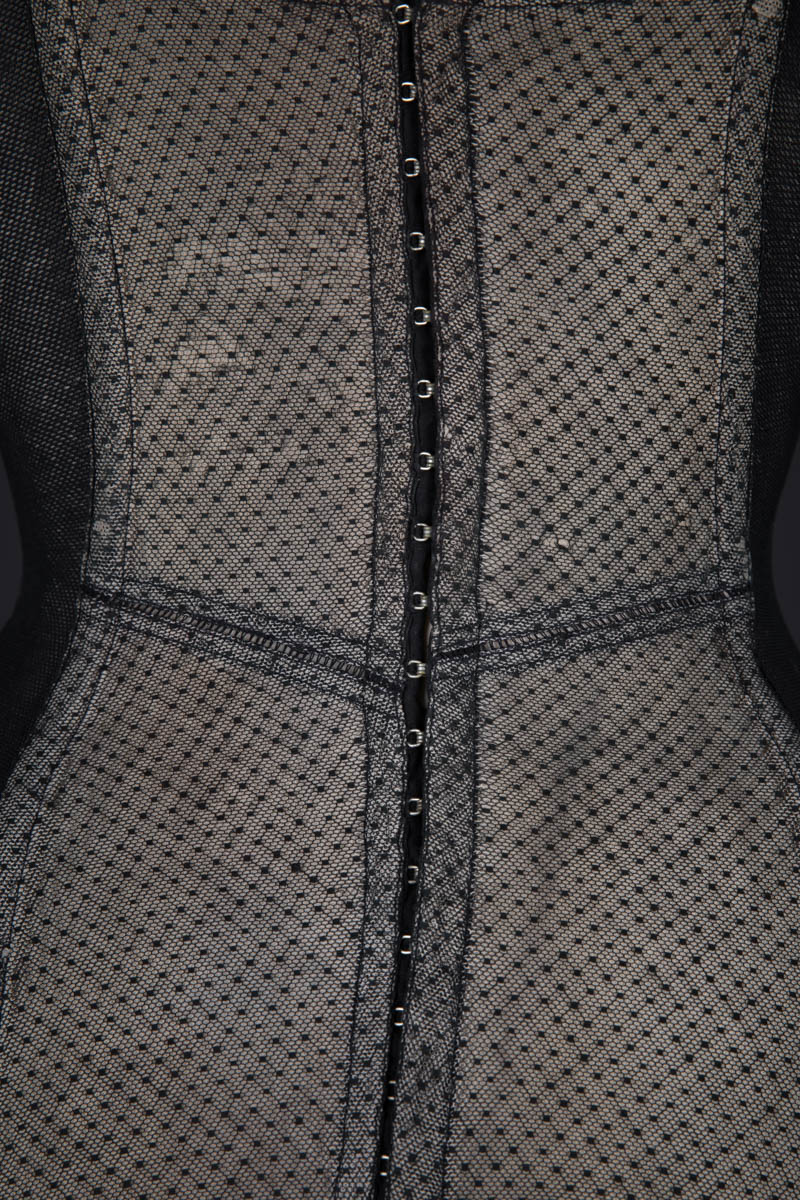 Point D'Esprit Tulle Corselet By Charmis, c. 1955, France. The Underpinnings Museum. Photography by Tigz Rice