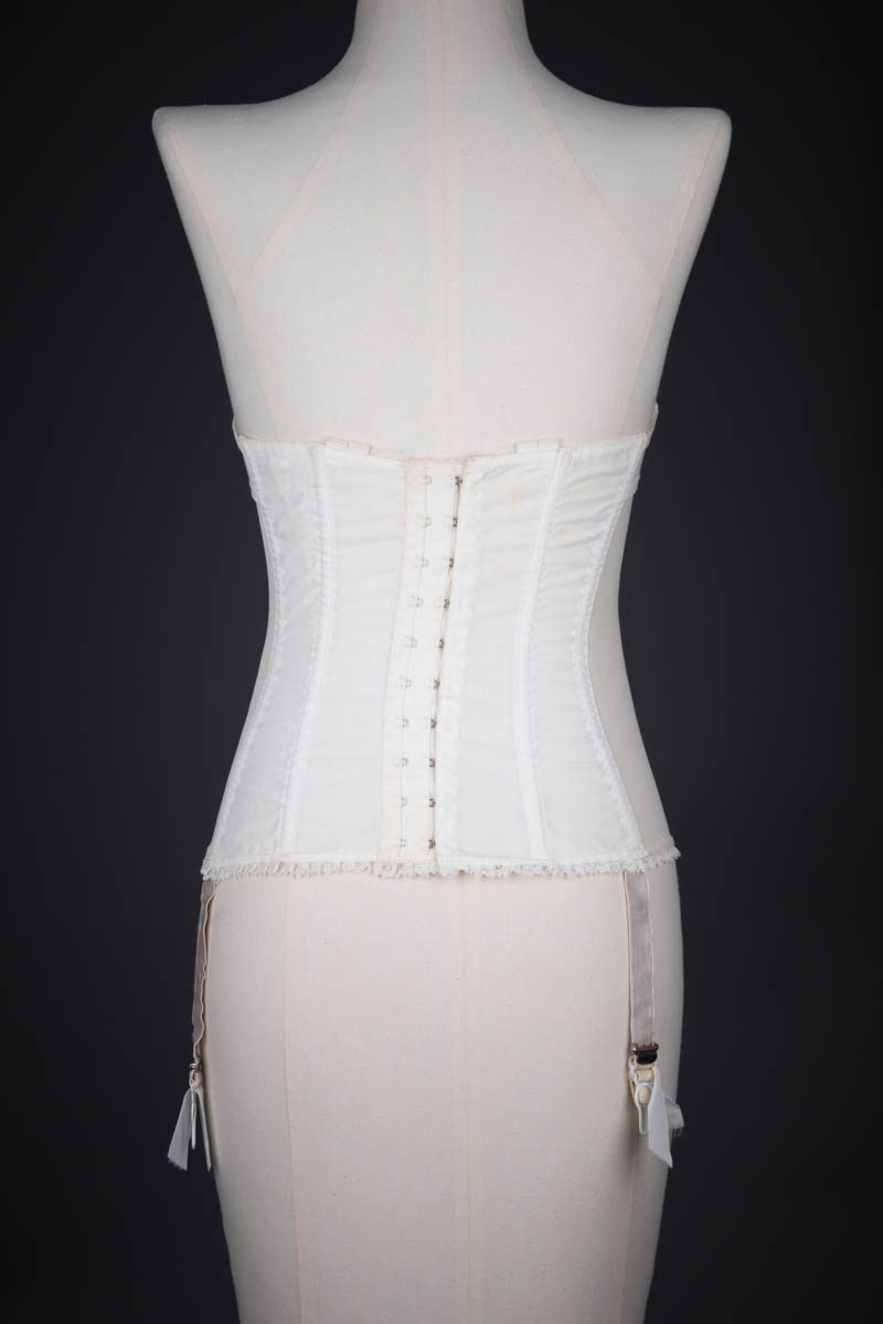 Nylon & Lace Trimmed Basque By 'Moonlight' By Kestos, c. 1950s, Great Britain.