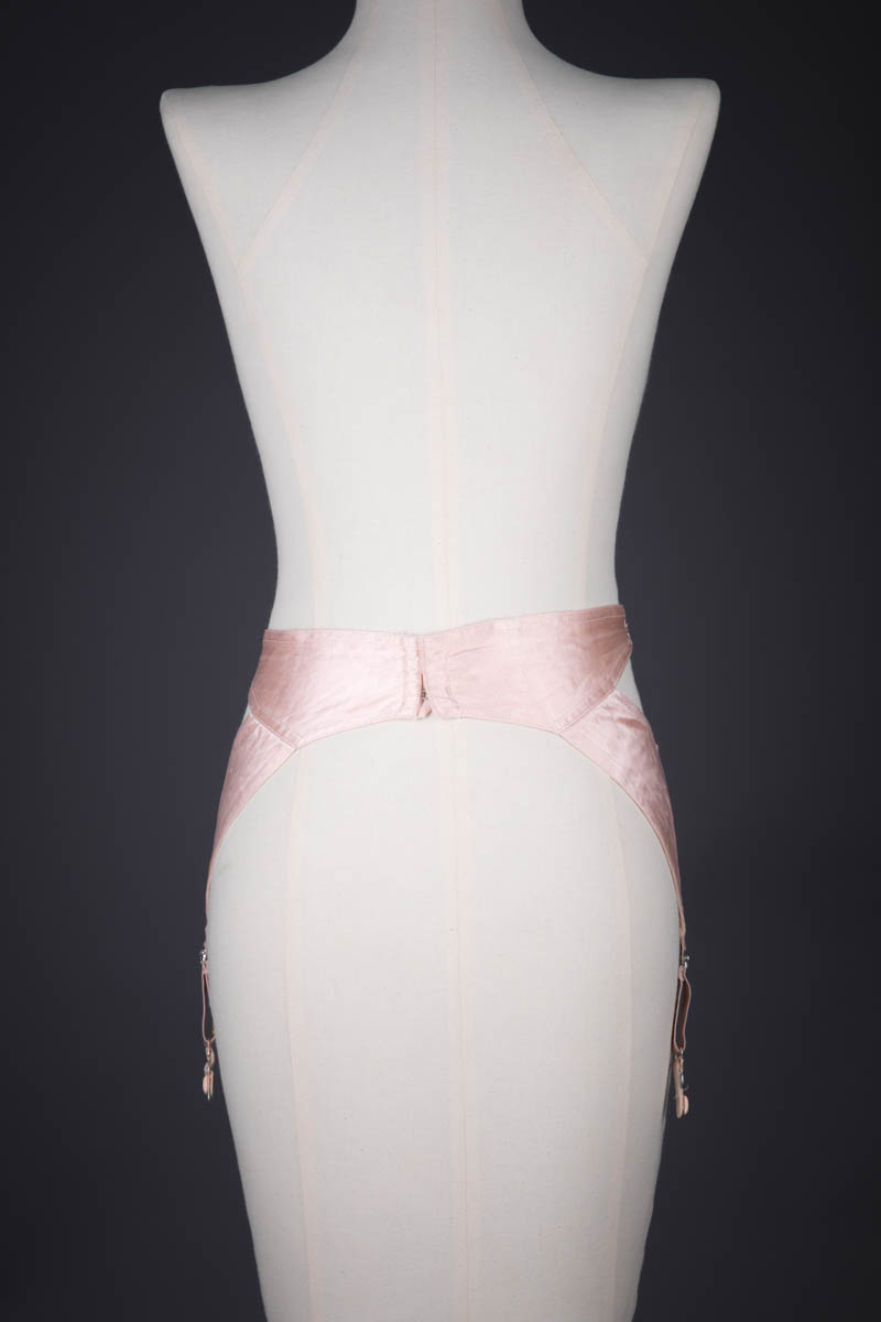 Pink Satin 'Zoma' Suspender Belt By Kestos, c. 1930s, Great Britain. The Underpinnings Museum. Photography by Tigz Rice