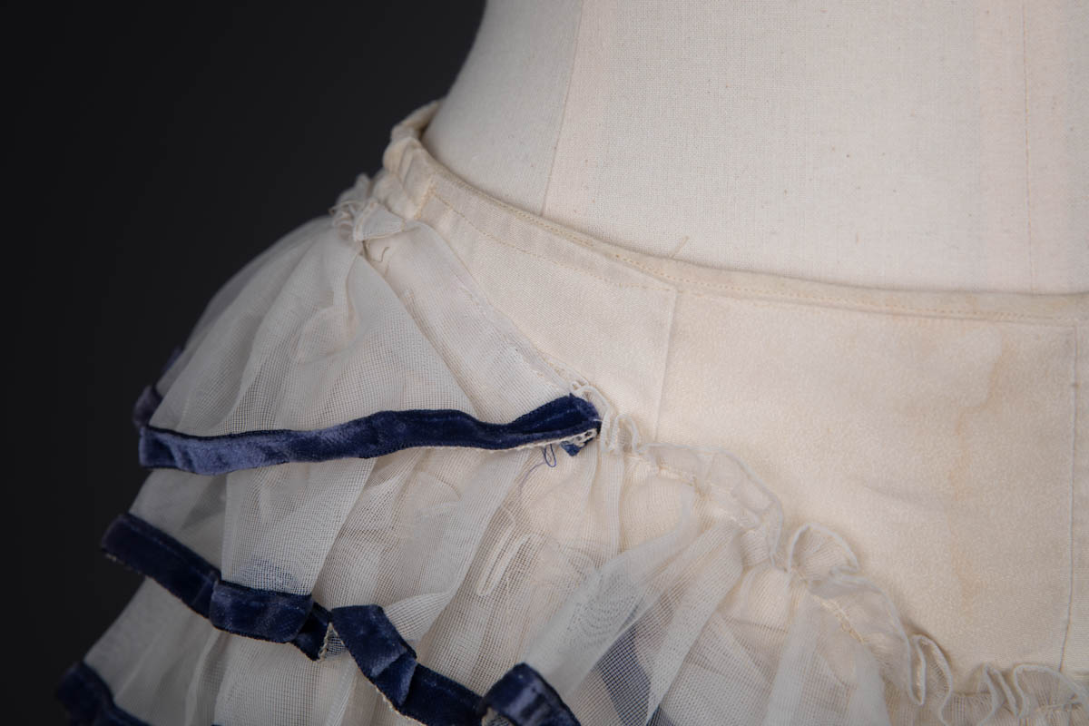 Tulle & Velvet Ribbon Trim Ruffle Knickers By Mme. Berthé, c. 1950s, USA. The Underpinnings Museum. Photography by Tigz Rice.