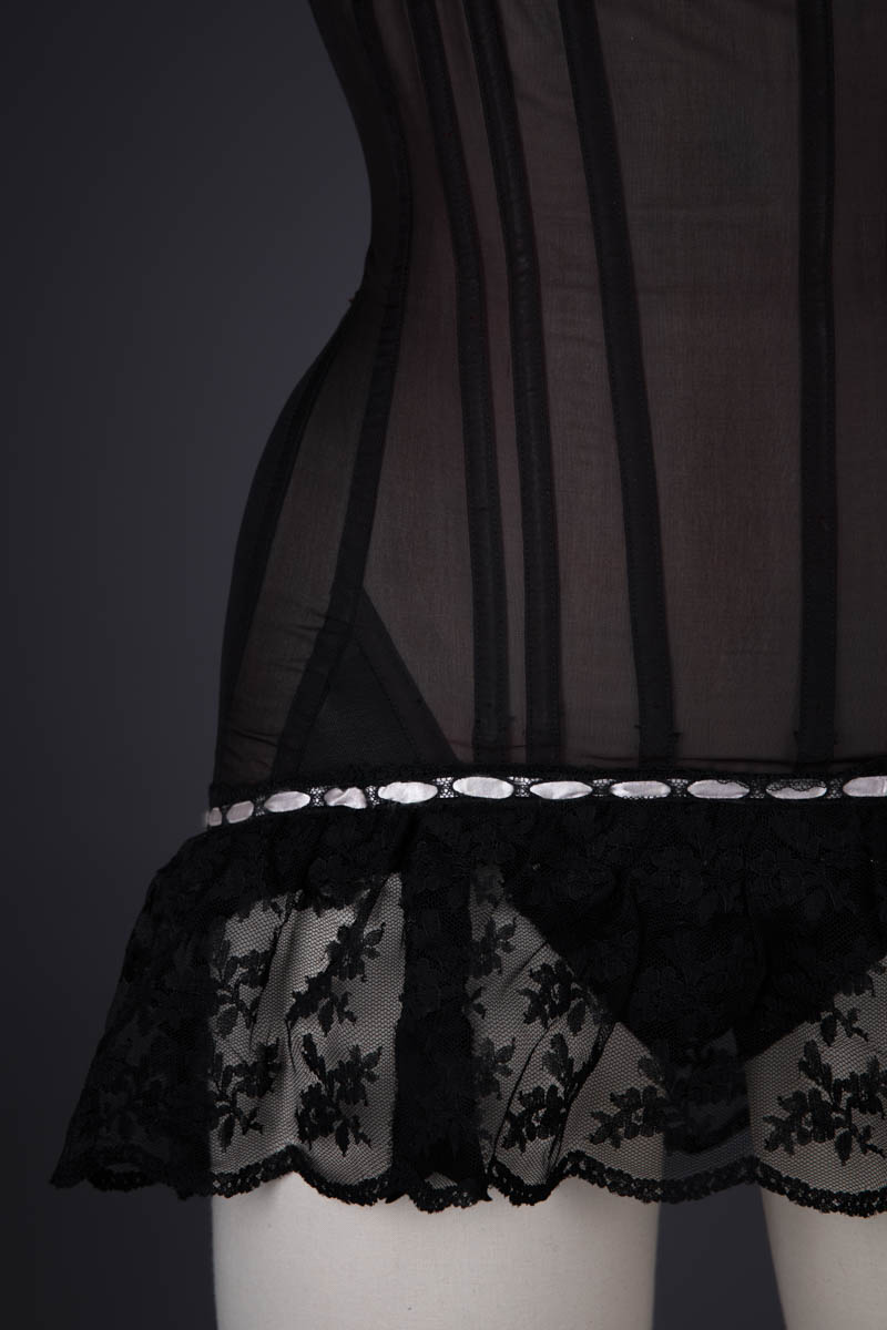 Demi-Cup Nylon Corselet With Ribbonslot Trim By 'Filly By Ferreras' For Warner's, 1961, United States. The Underpinnings Museum. Photography by Tigz Rice.