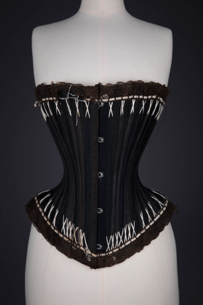 'Rust Proof' Style 602 Flossed Corset By Warner, c. 1890s, United States, The Underpinnings Museum. Photography by Tigz Rice.