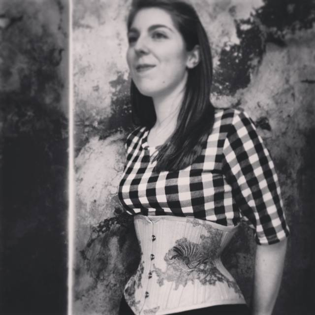 'Wren' embroidered cincher by Sparklewren, photography by Jenni Hampshire