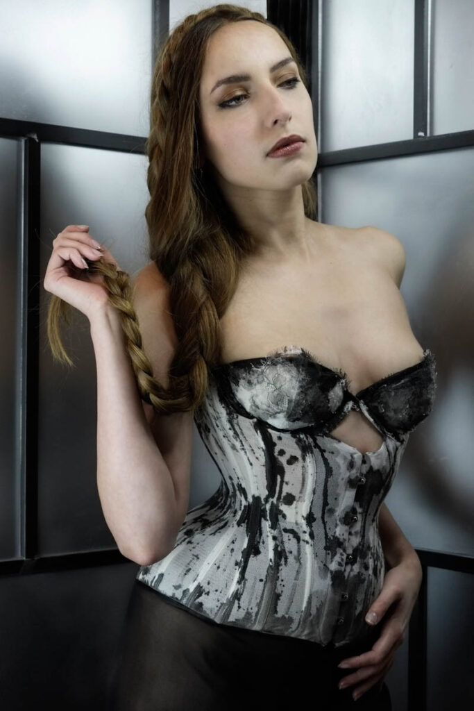 Corset and lingerie by Karolina Laskowska. Photography by Jenni Hampshire