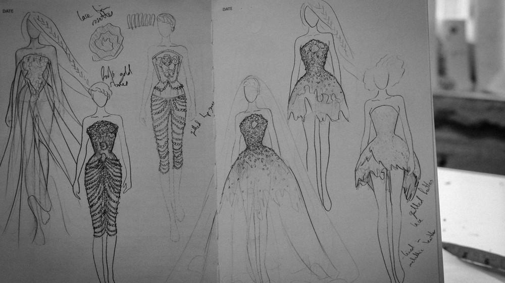 'Where Angels' design development sketches by Jenni Hampshire