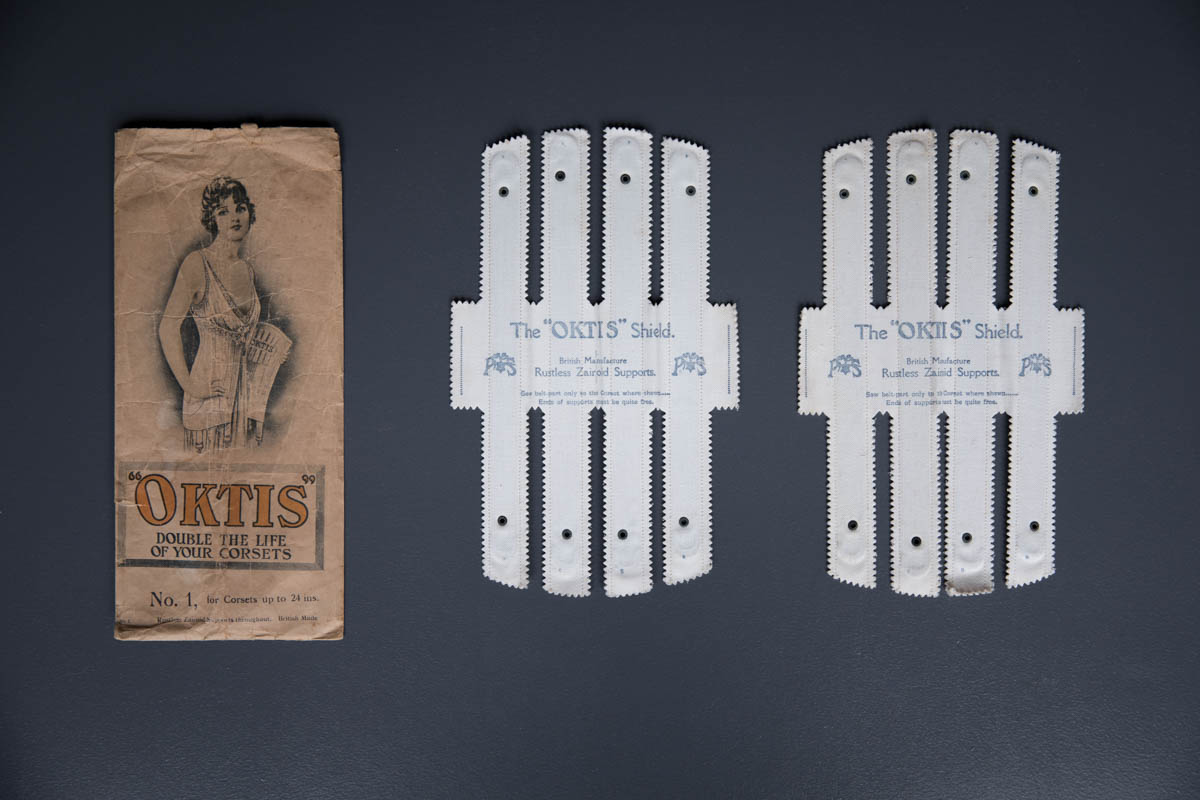 'Oktis' Corset Shields, c. 1910-1920s, Great Britain. The Underpinnings Museum. Photography by Tigz Rice.