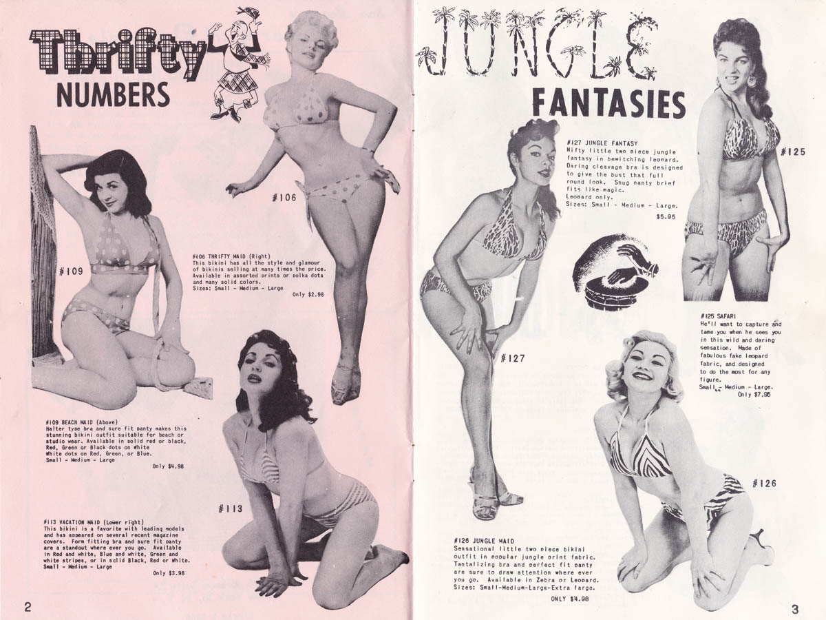 Sam Menning's Cover Girl Originals Catalogue, Vol. 3, Number 1, USA, c. 1950s, The Underpinnings Museum.