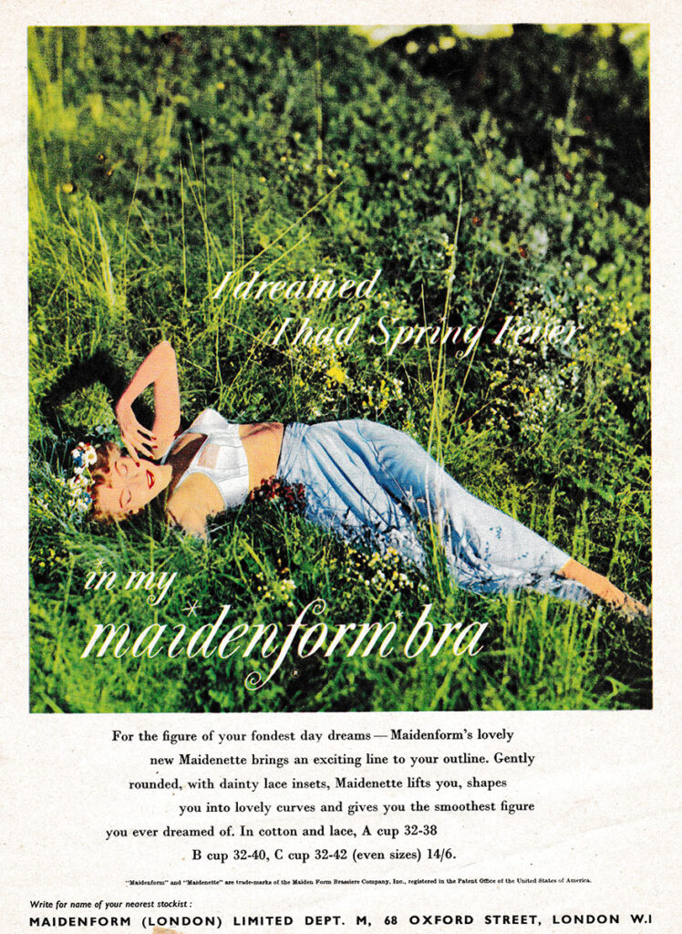 'I Dreamed I Had Spring Fever' Advertisement By Maidenform, c. 1956, Great Britain. The Underpinnings Museum